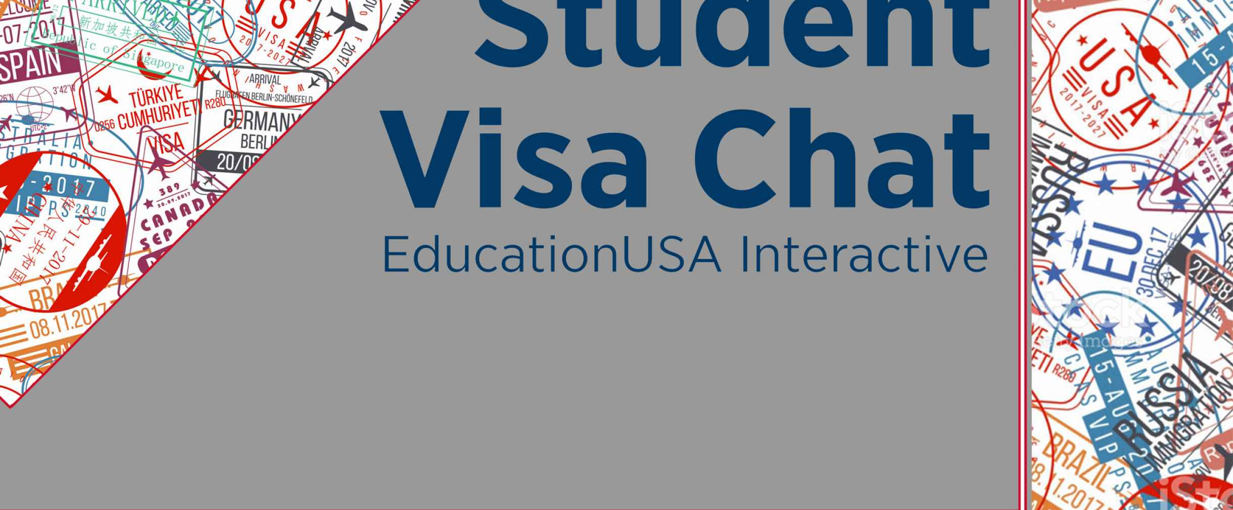 "Flyer graphic with title ""Student Visa Chat"""