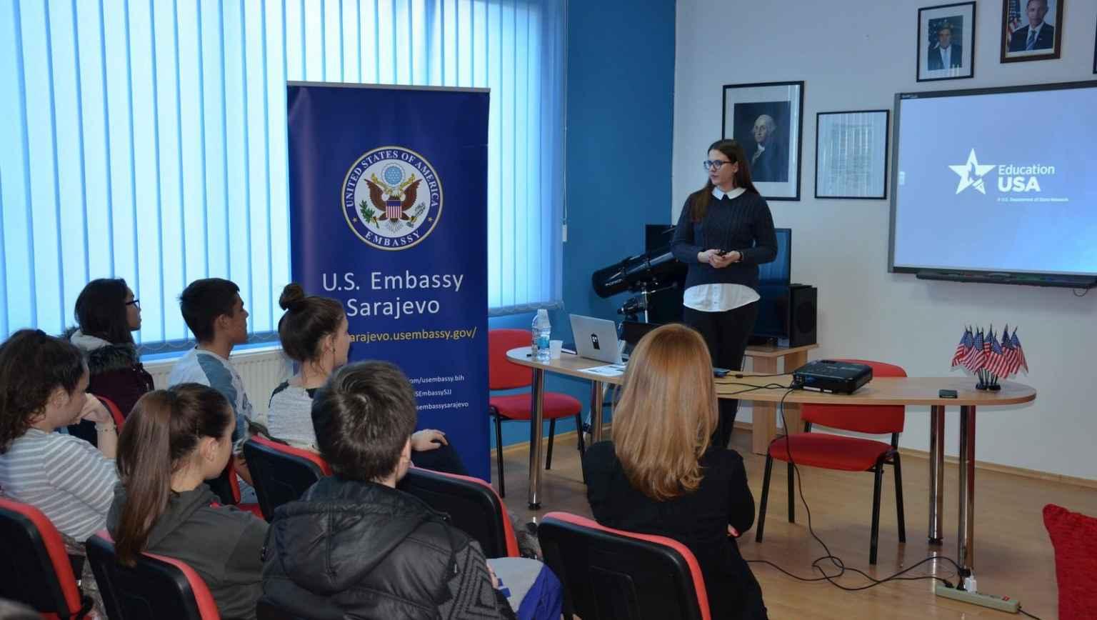 EducationUSA Tuzla in Doboj during IEW2016