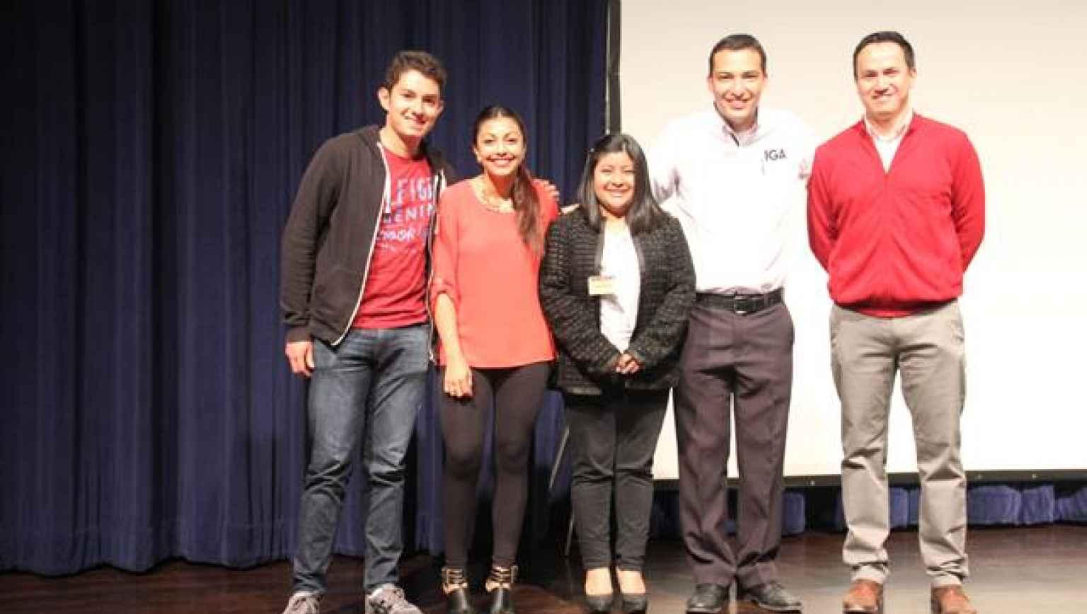 Guatemala City and Xela EducationUSA Advisers with international students