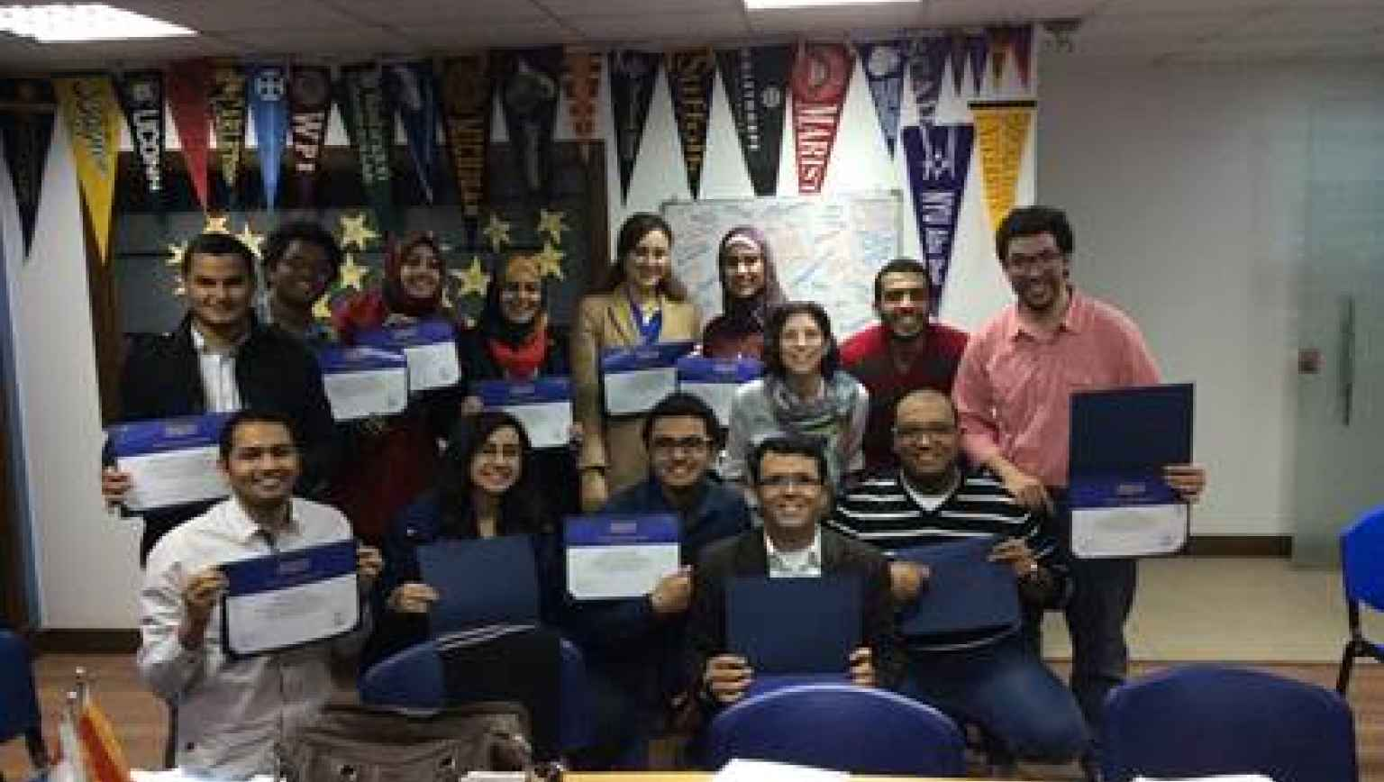 EducationUSA Cairo, Egypt Study Group with Certificates