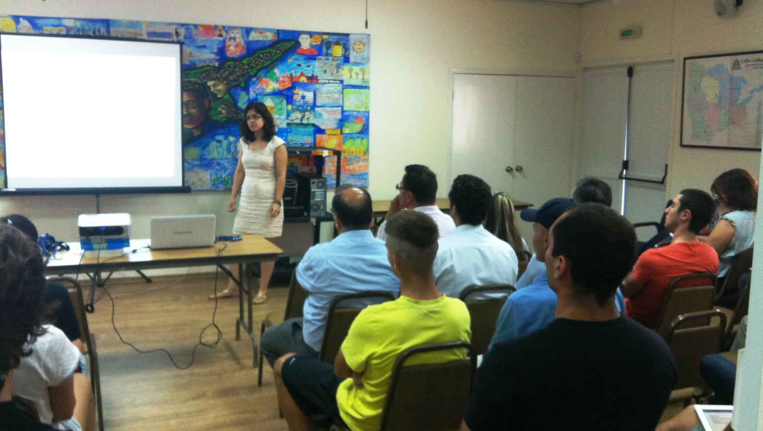 EducationUSA Adviser Gulsen Oztoprak presenting to students