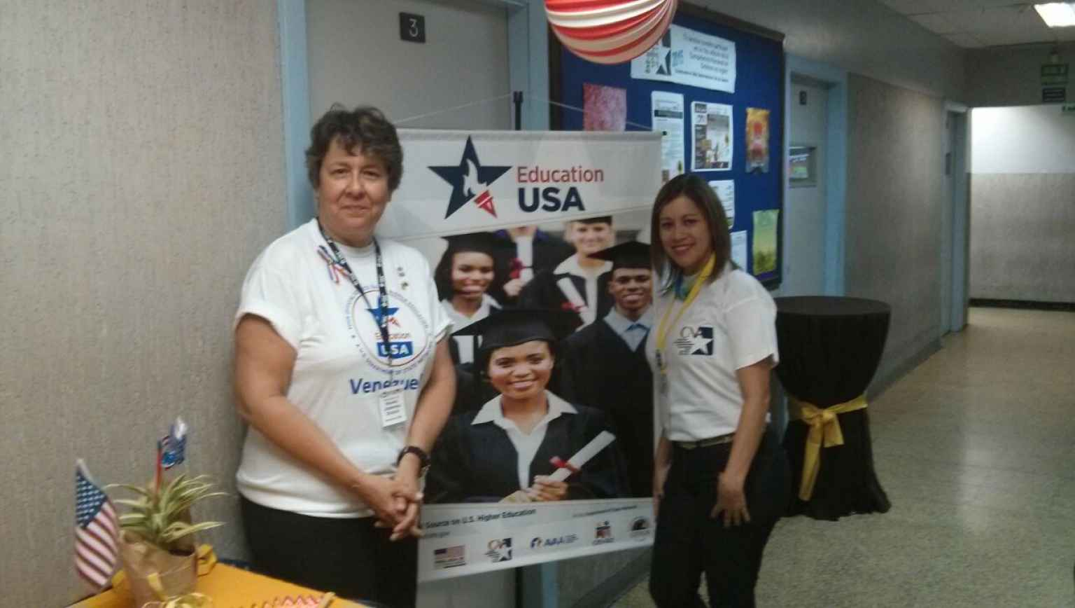 EducationUSA booth at Spelling Bee's celebration