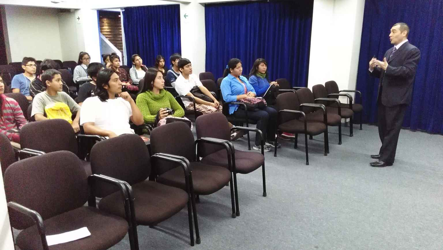 Outreach at Universidad Nacional Jorge Basadre
