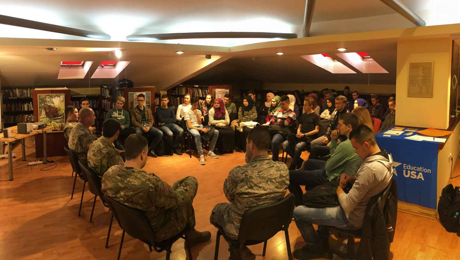 Maryland National Guard at the American Corner Tuzla
