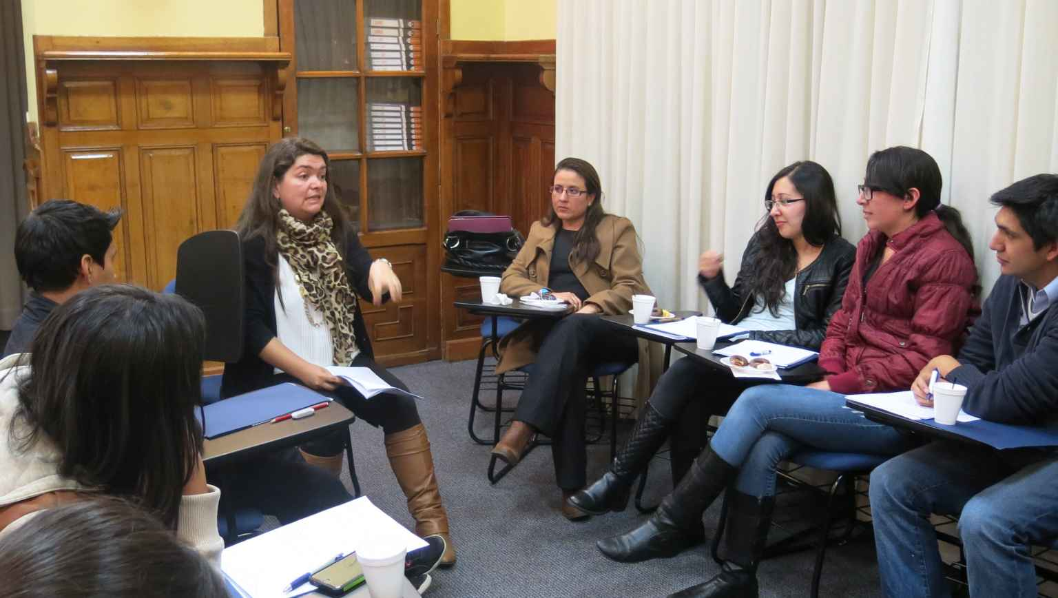 International students at a workshop for how to write a personal statement