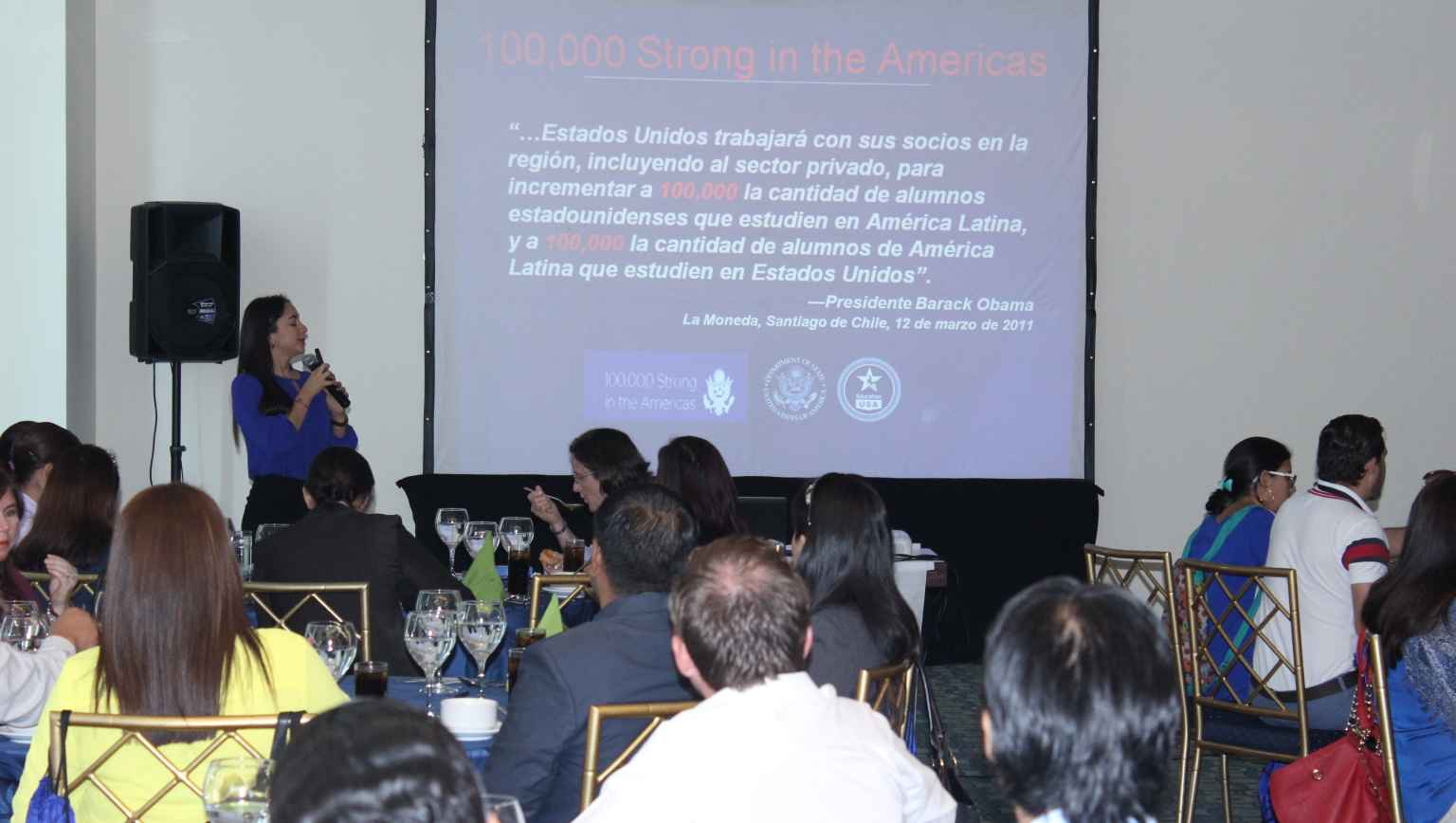 International student outreach activities conference in Guayaquil