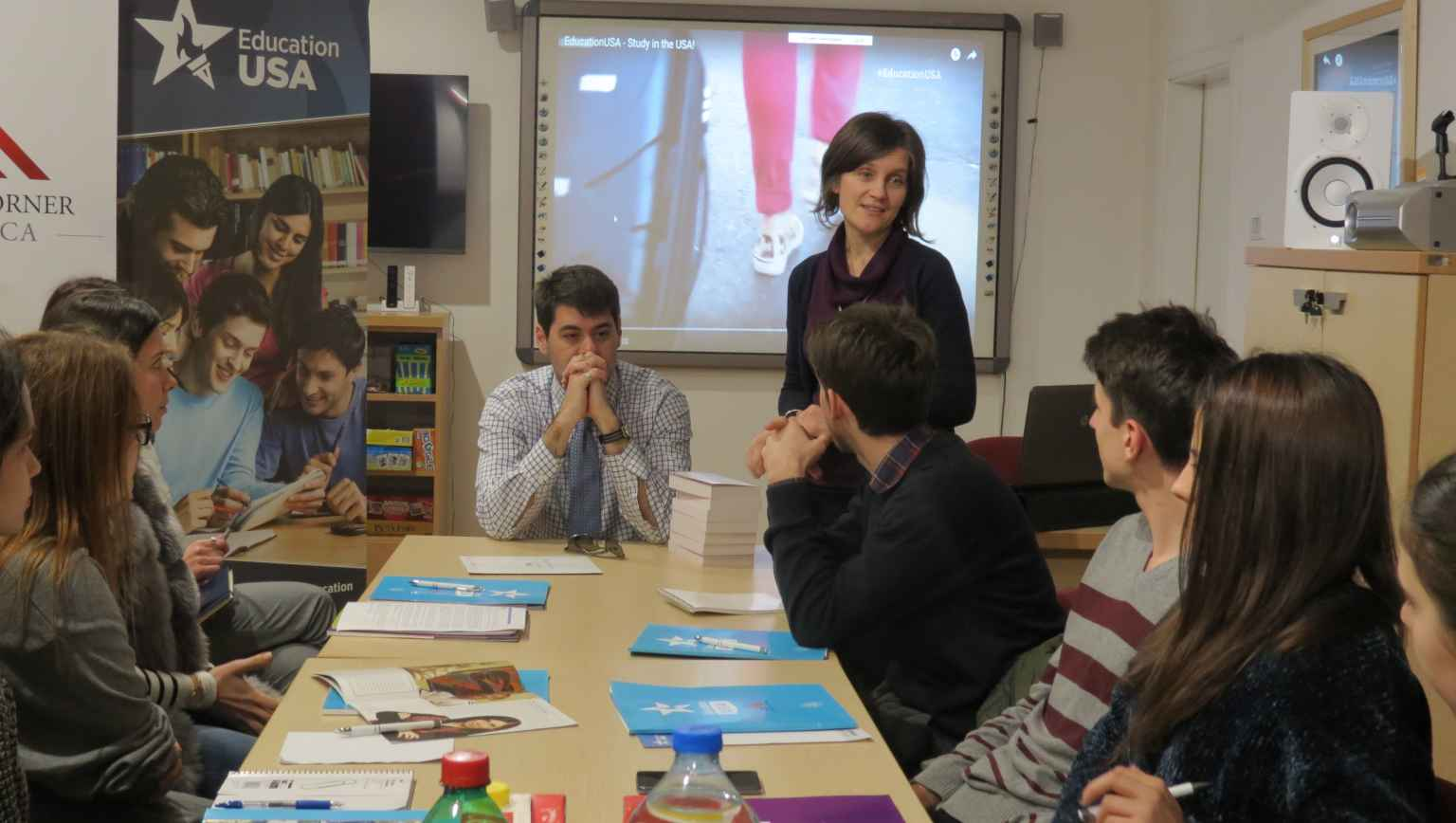 The first Competitive College Club meeting EducationUSA Montenegro