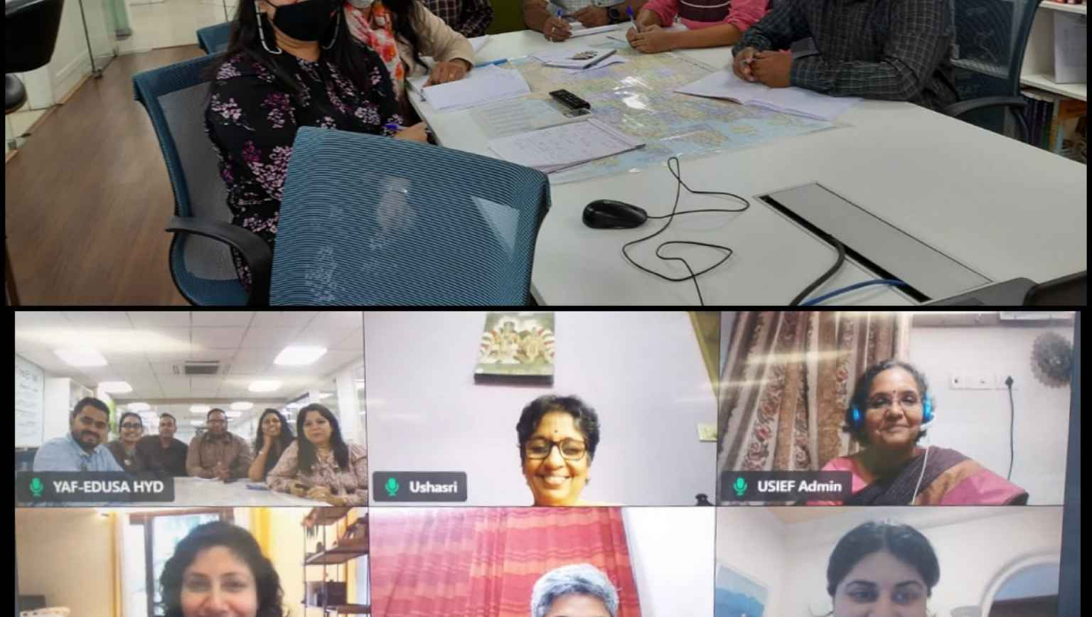 Intense and intellectual interactive sessions of the advisers at Y Axis Foundation Education USA center with the Mentors