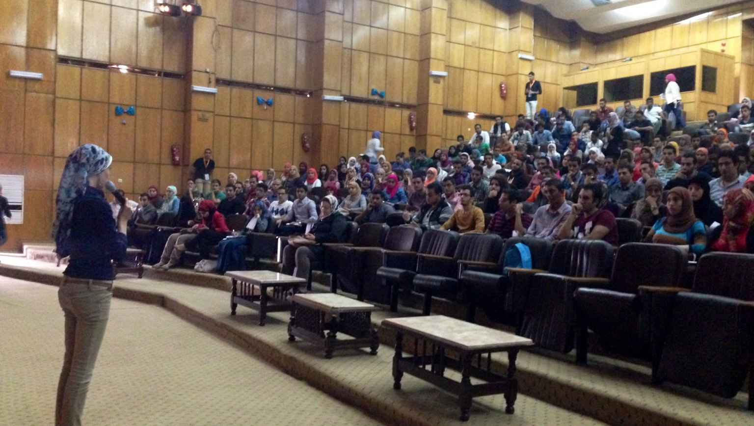 Suez Canal large lecture with international students