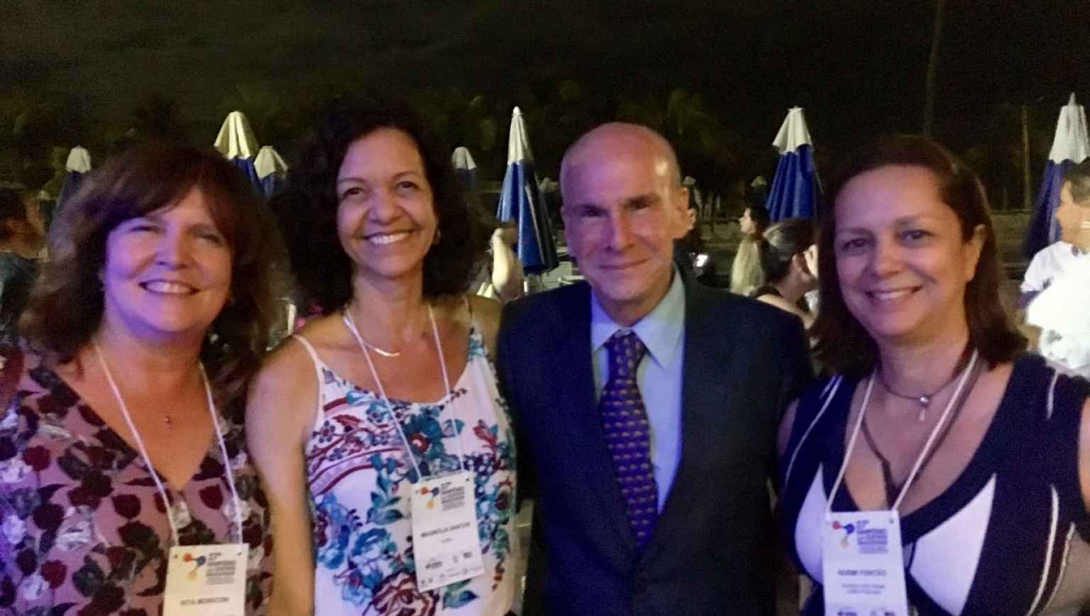 Meeting the US Embassador in Brazil, Mr Michael Mckinley at the BNC Symposium