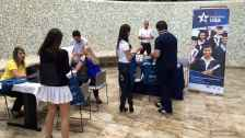 EducationUSA Stand at study fair in Brasilia, Brazil