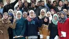 Internation students with their international studies certificates