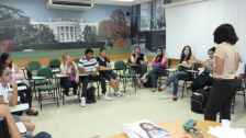 International students group session at Host Institution at ICBEU - Manaus