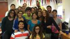 International students at EducationUSA advising center