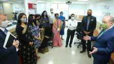 The US Consul General, Joel Reifman during the inauguration of the `Education USA`center at the Y- Axis Foundation in Hyderabad on March 5th,interacting with the advisers