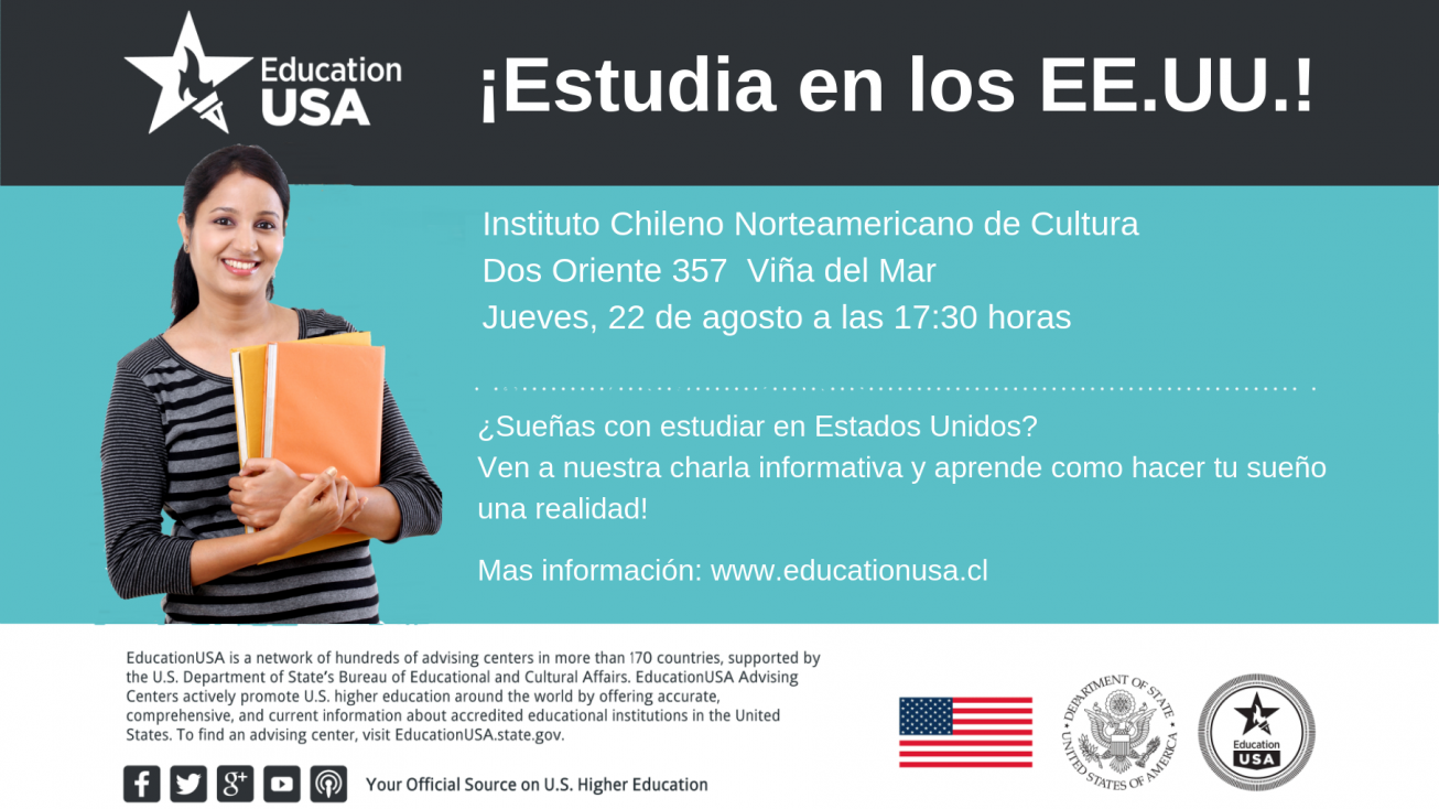 Information session Thursday August 22, 2019 in Viña del Mar, 5:30 pm