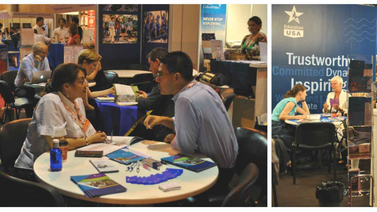 EducationUSA Pavilion at EAIE 2017 Seville