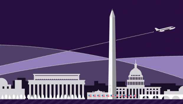 Digital drawing of Washington DC landmarks