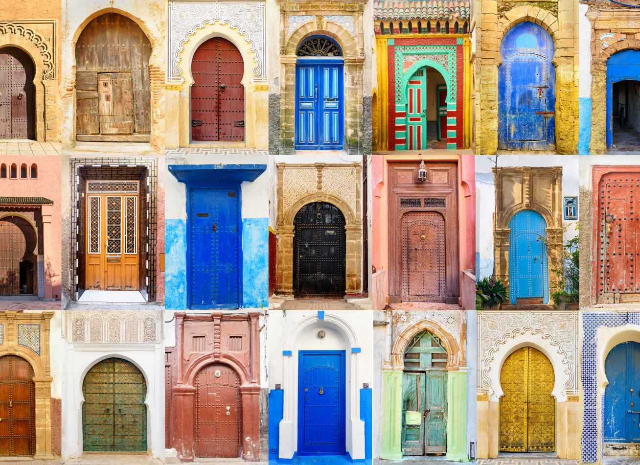 Picture of colorful middle eastern doors