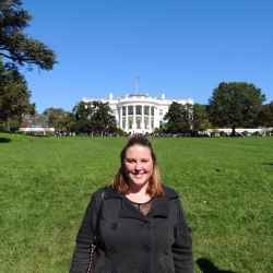 EducationUSA intern Katie at the White House in Washington, DC