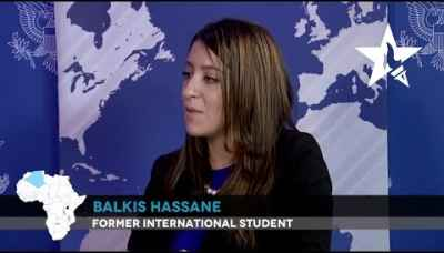"""I don't think I would've had these opportunities without a U.S. education.""- Balkis Hassane"