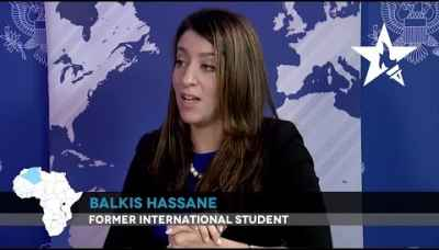 """My U.S. education has shaped who I am and given me new perspectives."" - Balkis Hassane"