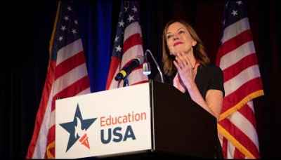 ECA Assistant Secretary Marie Royce speaks at the 2019 EducationUSA Forum