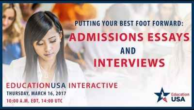 EducationUSA Interactive: Admissions Essays and Interviews